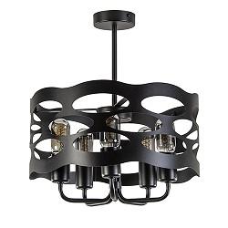 Scandinavische plafondlamp zwart 40cm