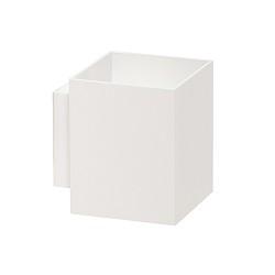 Moderne wandlamp vierkant wit metaal