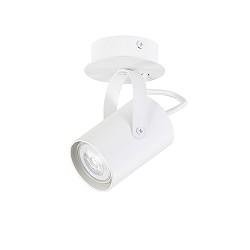 Witte opbouwspot verstelbaar1-lichts