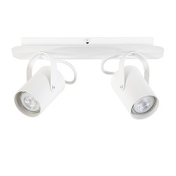 Verstelbare 2-lichts opbouwspot wit