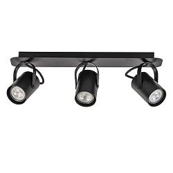 Verstelbare 3-lichts opbouwspot zwart