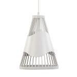 *Moderne hanglamp draad metaal wit
