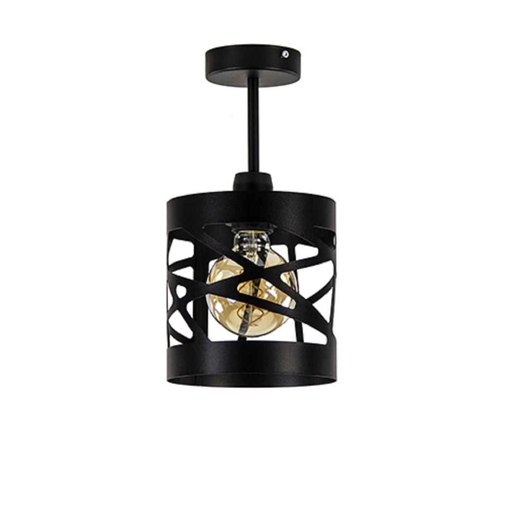 Kleine plafondlamp zwart metaal