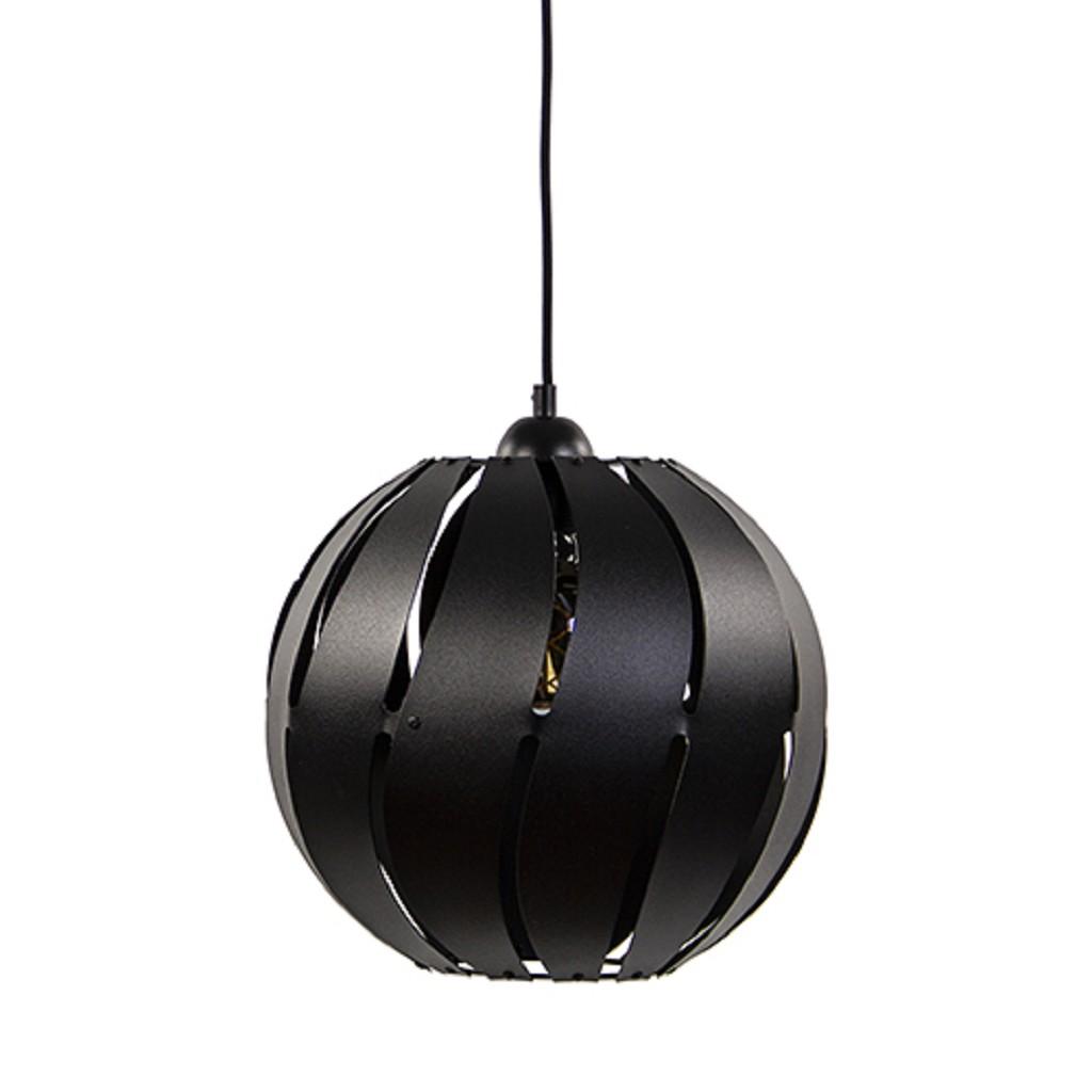 *Ronde hanglamp zwart metaal