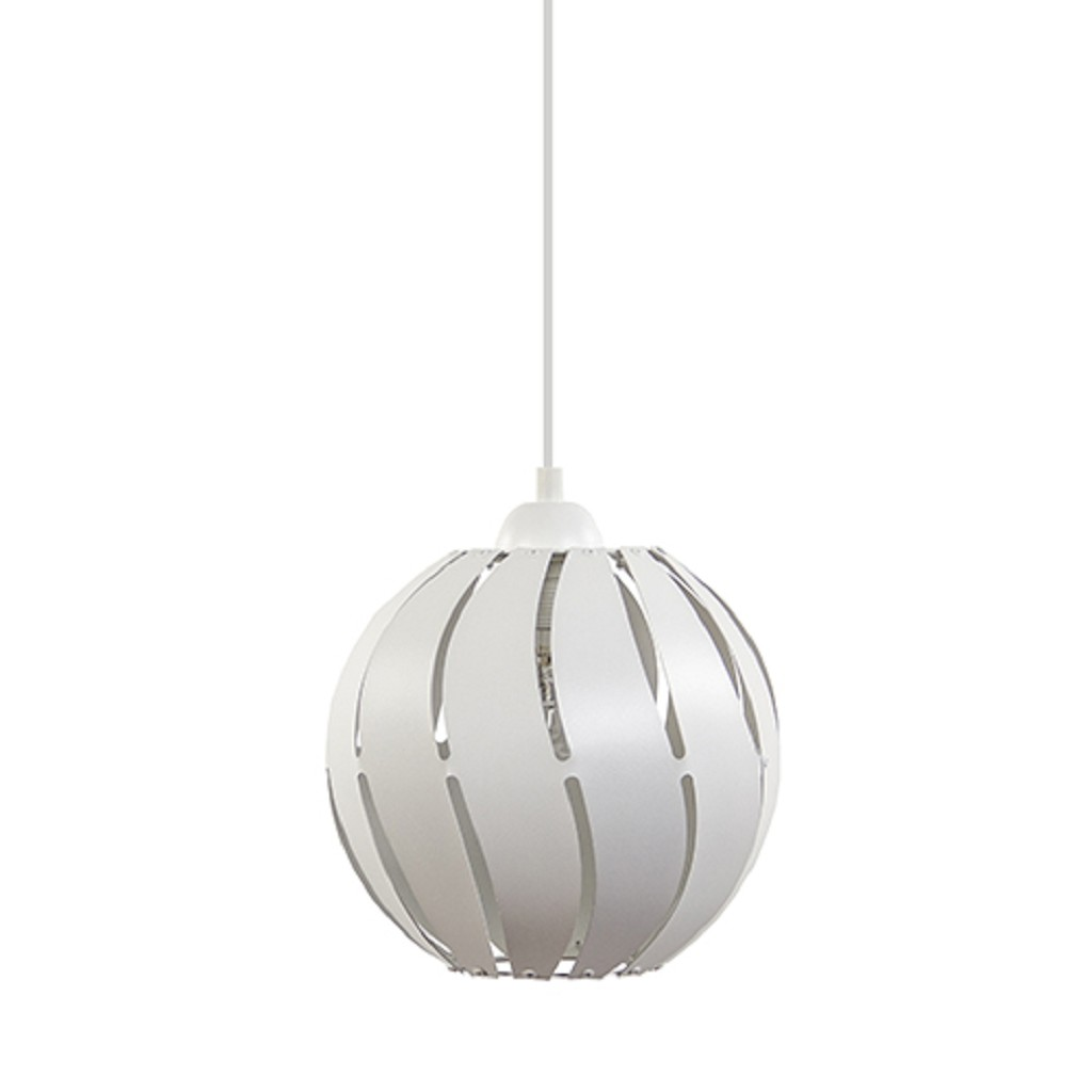 *Kleine metalen hanglamp bol wit