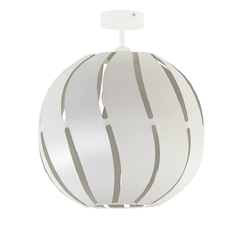 Grote ronde plafondlamp wit metaal