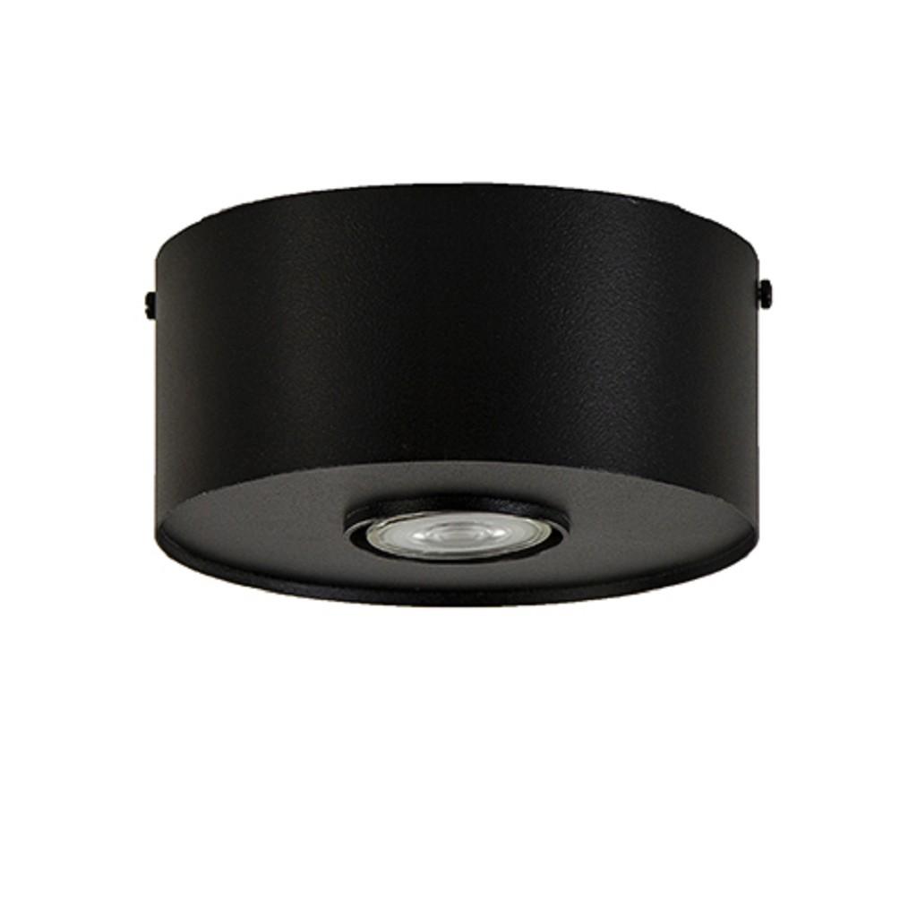 Moderne plafondlamp zwart metaal