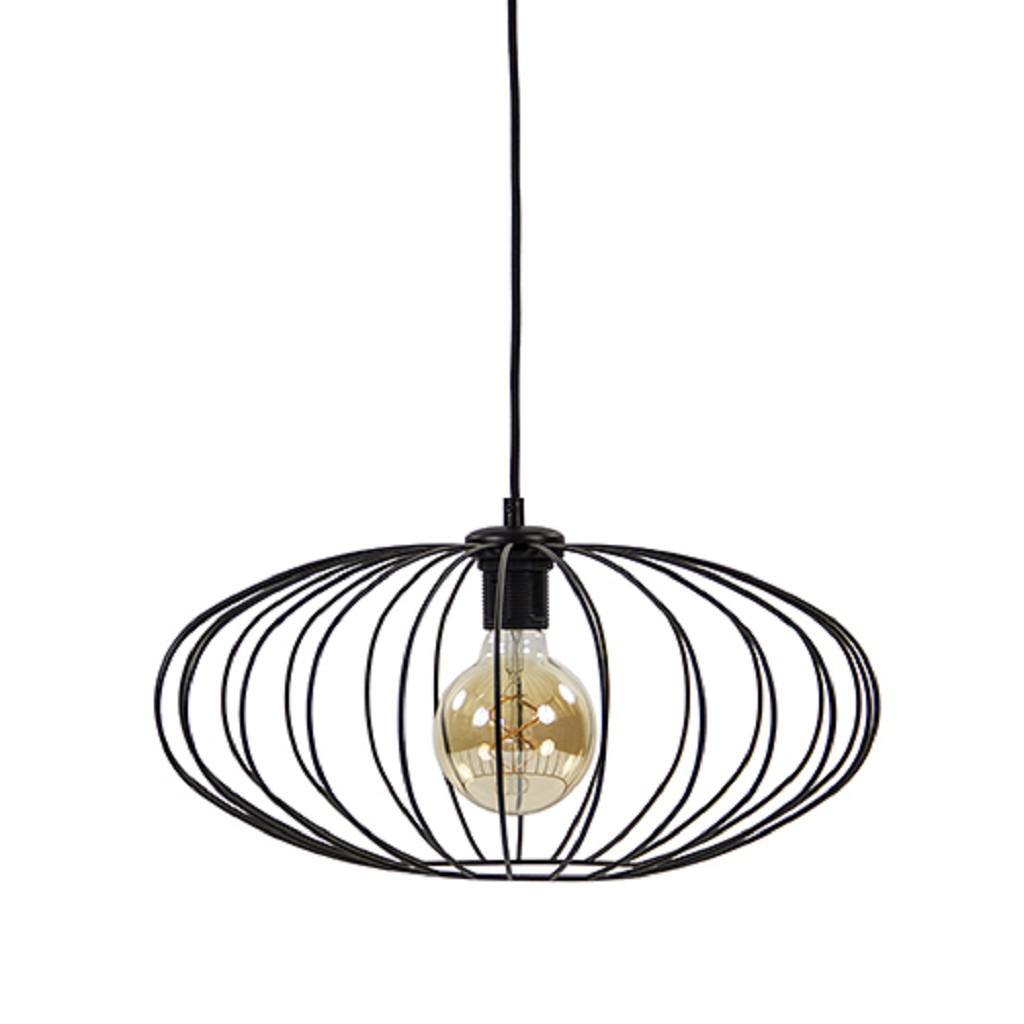 Sfeervolle hanglamp-draadlamp zwart