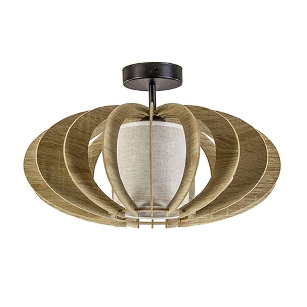 Plafondlamp hout lamellen klein