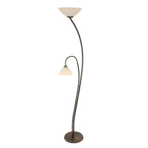 Vloerlamp Capri brons/Glas
