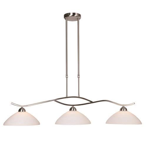 Hanglamp Capri staal glas eettafel