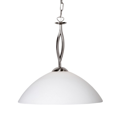 Hanglamp Capri staal/glas woonkamer