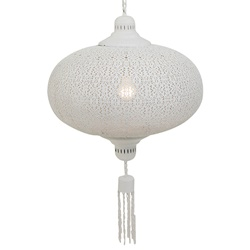 Oosterse hanglamp wit slaapkamer
