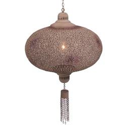 Romantische orientaalse hanglamp bruin