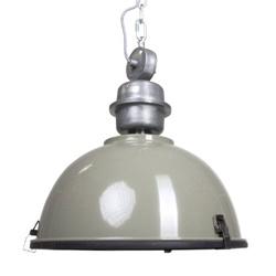 Industriele hanglamp olijf metaal Bikkel