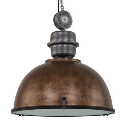 Landelijk industriele hanglamp XXL bruin