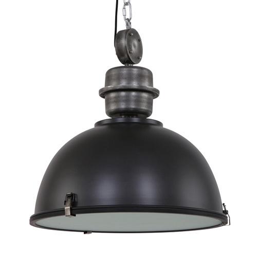 Zwarte XXL industriële hanglamp Bikkel