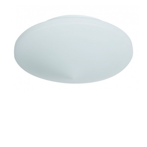 Kleine moderne plafondlamp wit met glas