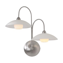 LED wandlamp Monarch staal incl. dimmer