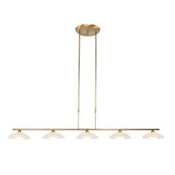 Dimbare hanglamp Monarch brons LED