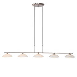 Monarch hanglamp staal LED incl. dimmer