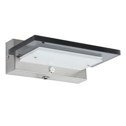 Moderne wandlamp staal met smoke glas incl. LED