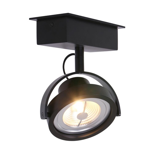 Industriële plafondspot zwart inclusief LED