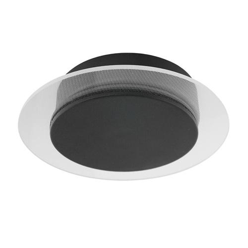 Plafondlamp Lido zwart 17cm indirect