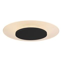 Plafondlamp Lido zwart 42cm indirect
