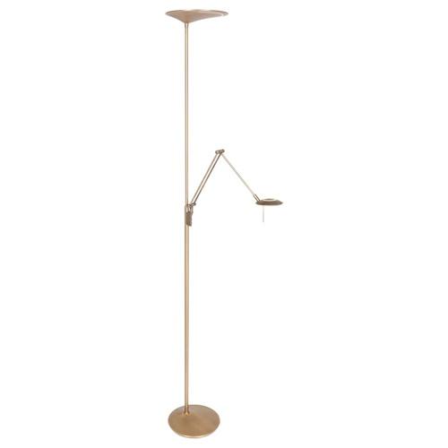 Klassieke LED vloerlamp met uplighter en leeslamp