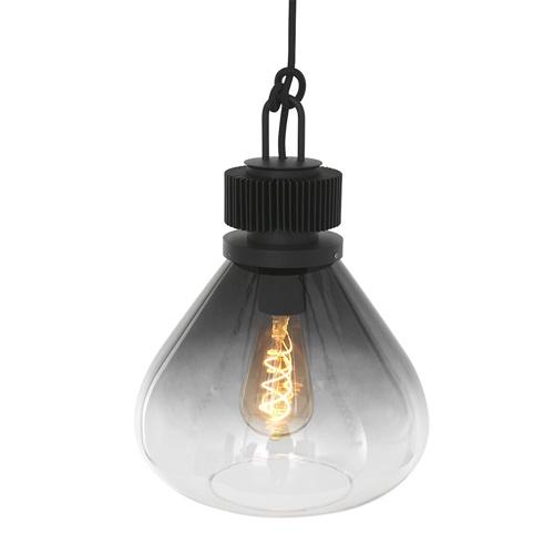 Luxe glazen hanglamp smoke/helder