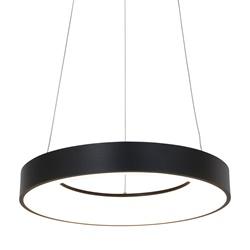 Zwarte hanglamp ring inclusief LED