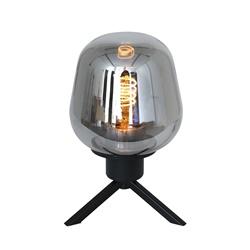 Tafellamp driepoot kegel smoke glas