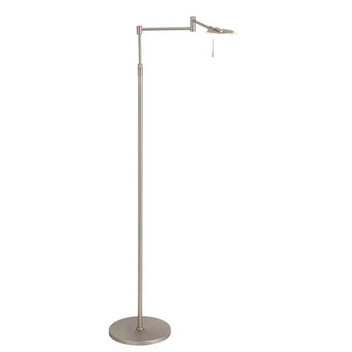 Verstelbare LED leeslamp staal dimbaar