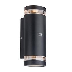 Buitenlamp Panay zwart+schemersensor
