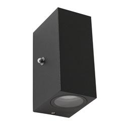 Buitenlamp Logan zwart+schemersensor IP44