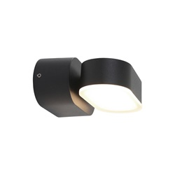 Verstelbare LED buitenlamp ovaal zwart aluminium