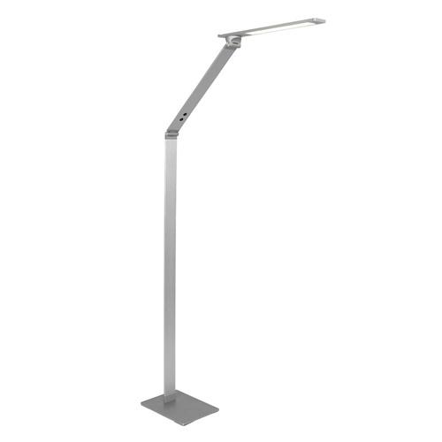 Verstelbare LED vloerlamp geborsteld staal dimbaar