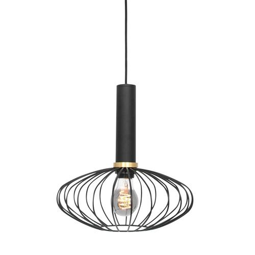Hanglamp Aureole ovaal zwart