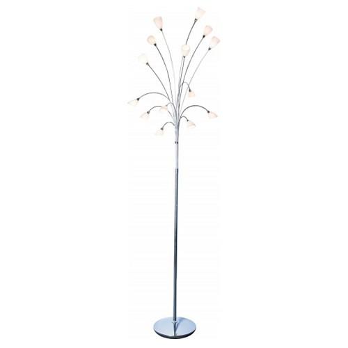 Romantische  vloerlamp Tarda chroom