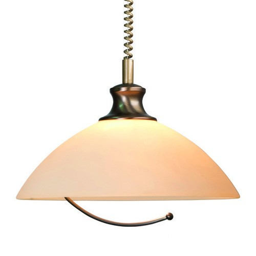 *Klassieke hanglamp brons trekpendel