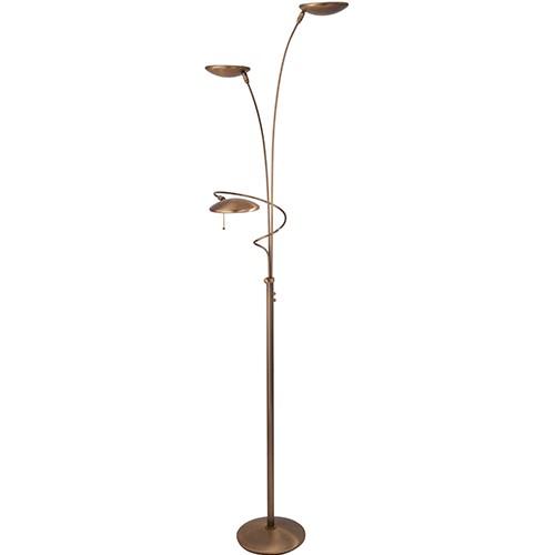 Klassieke vloerlamp diamond brons led straluma - Klassieke vloerlamp ...