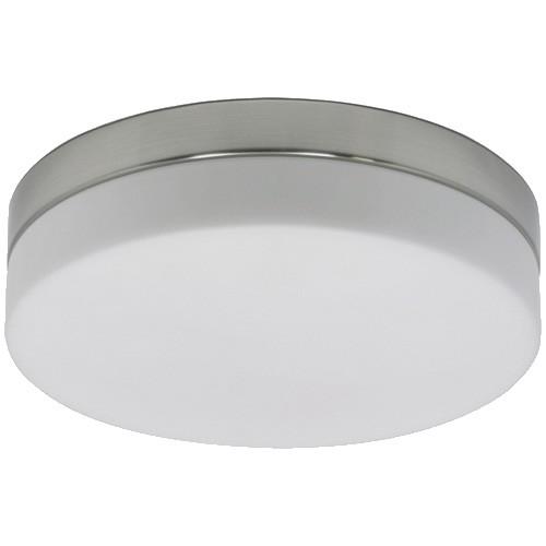badkamer plafondlamp staalwit glas straluma