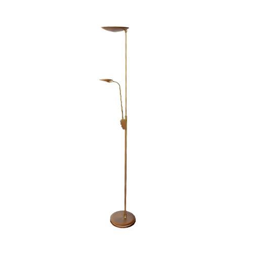 LED Vloerlamp-leeslamp-uplighter brons
