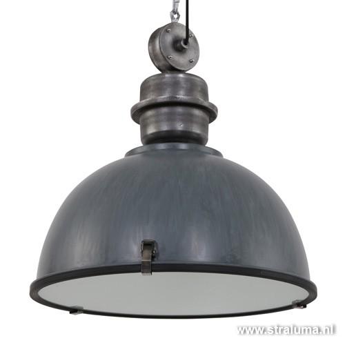 Grijze industriële hanglamp Bikkel