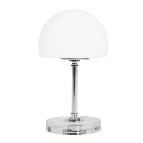 Moderne tafellamp met transparante voet