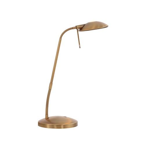 Klassieke Led Tafellamp-Bureaul. Brons