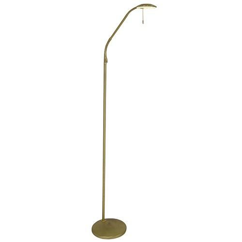 Leeslamp-vloerlamp LED messing dimbaar