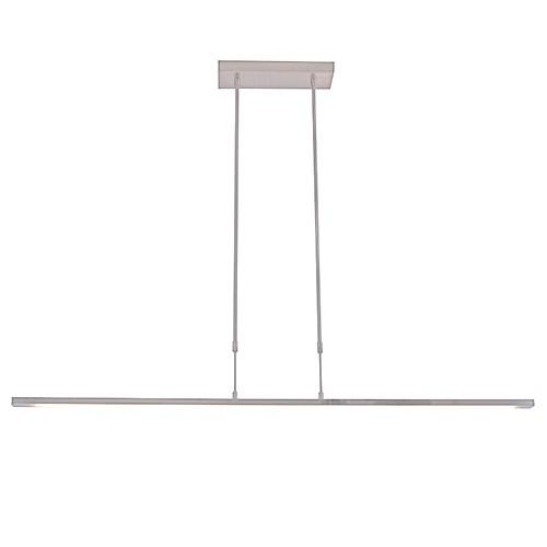 Strakke hanglamp LED staal incl. dimmer
