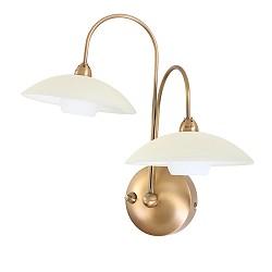 *Klassieke wandlamp Aleppo brons 2928BR